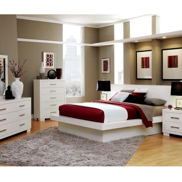 Shop jessica contemporary white 4 piece bedroom set on - Contemporary bedroom sets for sale ...