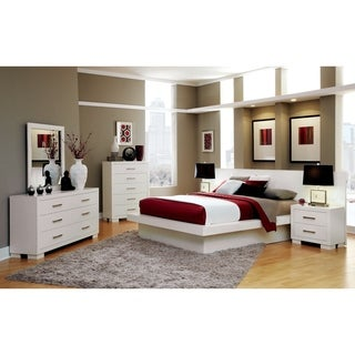 Jessica Contemporary White 4-piece Bedroom Set