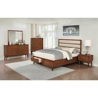 Banning Mid-century Modern Mango 4-piece Bedroom Set