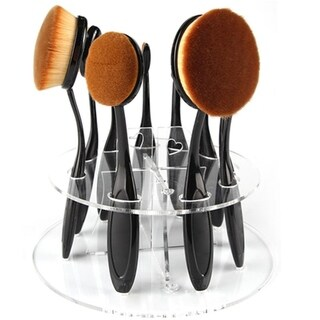 M.B.S Oval Brush Holder Clear