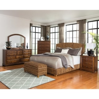 Laughton Rustic Brown 4-piece Upholstered Bedroom Set