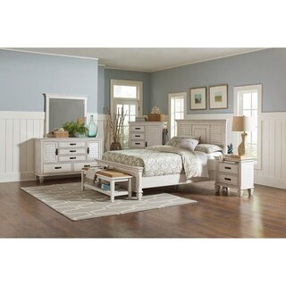Franco Antique White 5-piece Bedroom Set