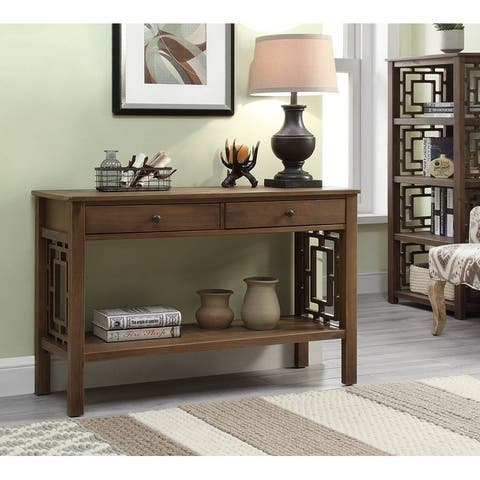 Henry Rustic Brown Console Table