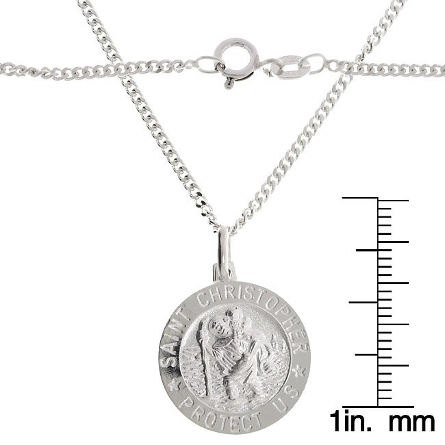 Shop sterling silver 22 inch saint christopher medal necklace on sterling silver 22 inch saint christopher medal necklace aloadofball Choice Image