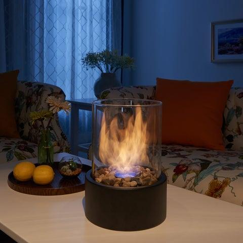Danya B. 11 inch Indoor Outdoor Portable Tabletop Fire Pit - Ethanol