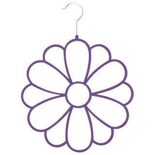 Joy Mangano Huggable Hangers 1pk Flower Accessories Organizer, Purple