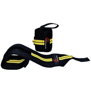 ProSource Barbell Weight Lifting Adjustable Wrist Wrap Support w/ Thumb Loop for Crossfit Gym Yellow
