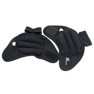 ProSource Pair of Heavy Duty Neoprene Weighted Gloves 2lbs for Running Sculpting and Aerobics Black