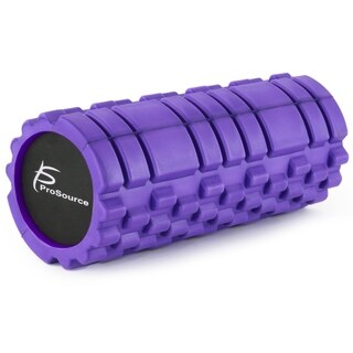 ProSource Sports Medicine Foam Roller 13 x 6 with zone Deep-Tissue Massage Muscle Therapy Black
