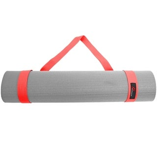 ProSource Yoga Mat 100% Durable Cotton Easy-Cinch Sling Carry Strap Harness Carrier - Red