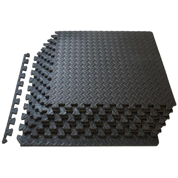 Prosource Puzzle Exercise Equipment Floor Mat Eva Foam Interlocking