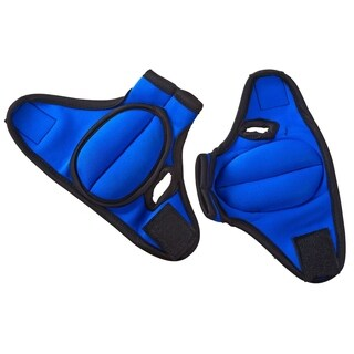 ProSource Pair of Heavy Duty Neoprene Weighted Gloves 2lbs for Running Sculpting and Aerobics - Blue