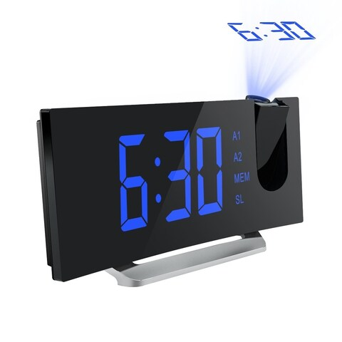 Mpow Alarm Clock FM Radio Alarm Clock Projection Clock Dual Alarm with USB Charging Port - N/A