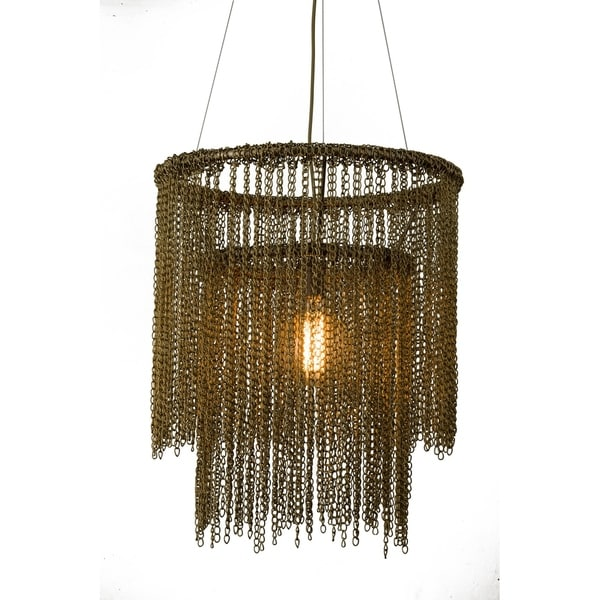 Shop Bronze Metal Chain Pendant Light - Free Shipping Today ...
