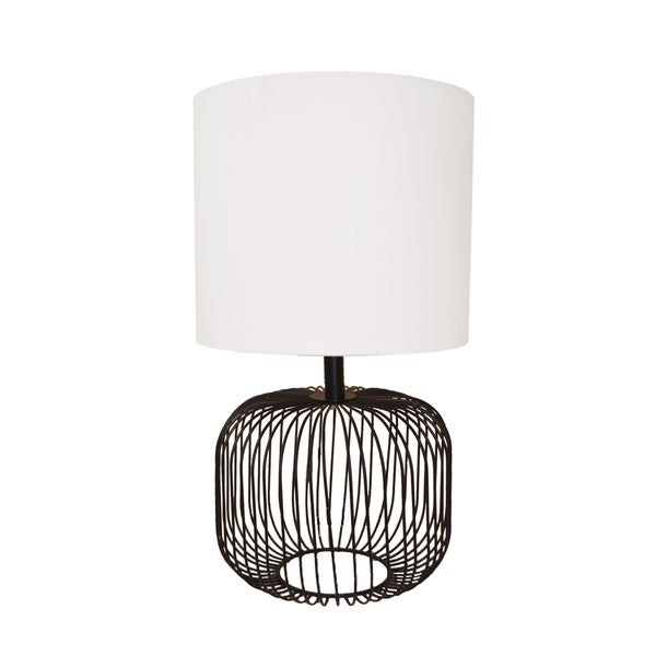 Shop Black Wire Table Lamp Free Shipping Today Overstock Com