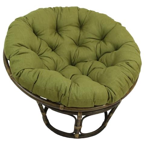 International Caravan Bali 42-inch Papasan Chair with Indoor/Outdoor Cushion