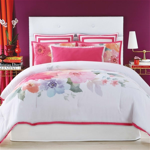 Shop Christian Siriano Bold Floral 3 Piece Duvet Cover Set