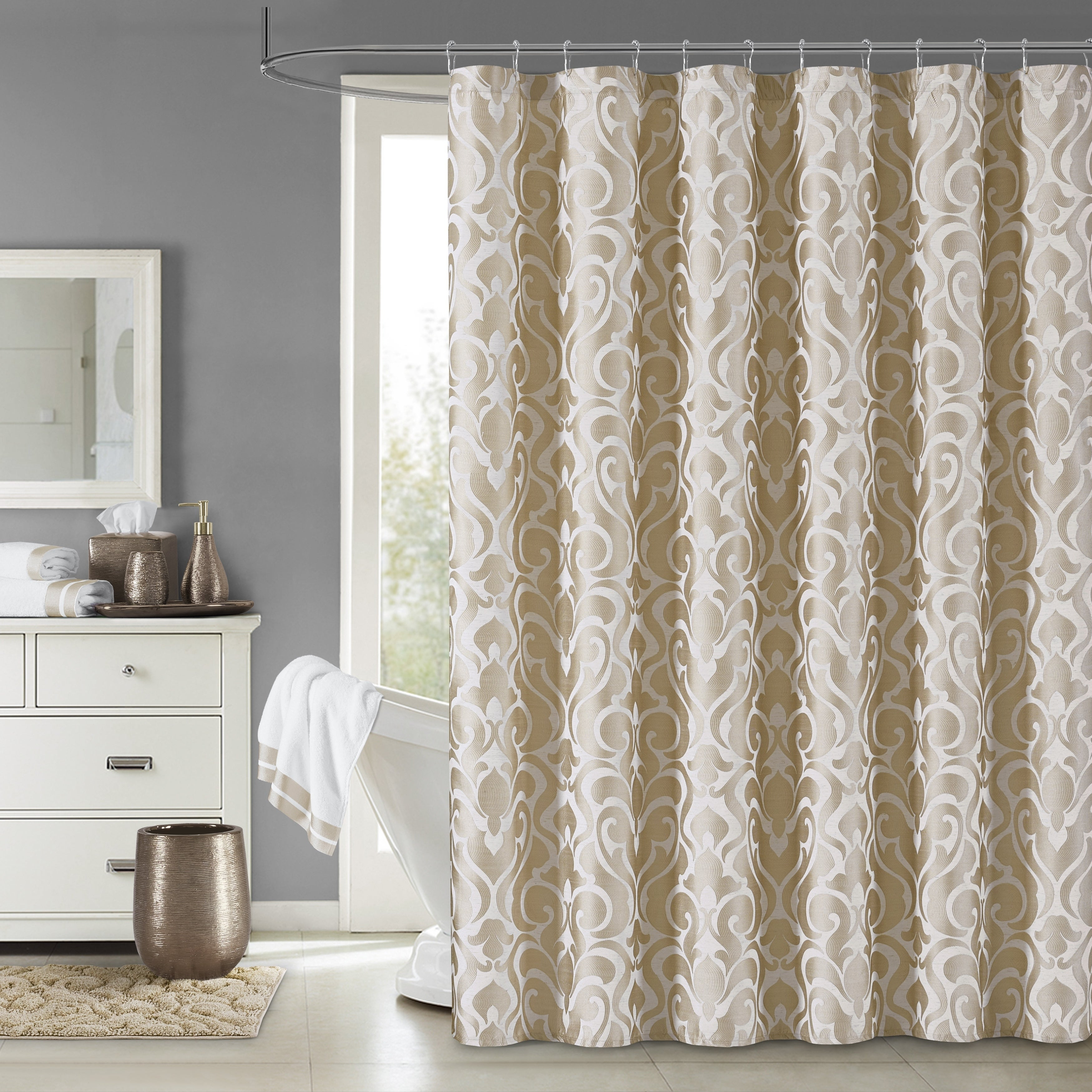Five Queens Court Leo Woven Jacquard Shower Curtain