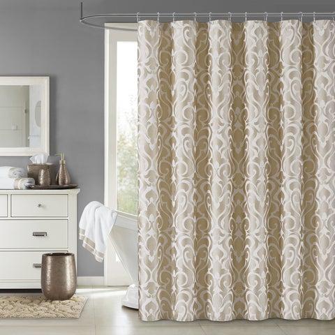 Five Queens Court Leo Woven Jacquard Shower Curtain