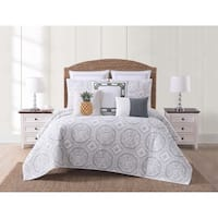 Oceanfront Resort Sunwashed Isle Printed 3 Piece Quilt Set