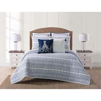 Oceanfront Resort Reef Point Printed 3 Piece Quilt Set