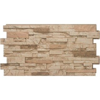 CompStone Faux Panels - Stacked Stone - Desert Tan (4 options available)