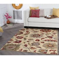Alise Rugs Rhythm Transitional Floral Area Rug - 7'6 x 9'10