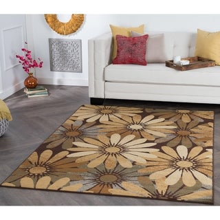 Alise Rugs Rhythm Contemporary Floral Area Rug - 7'6 x 9'10
