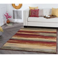 Alise Rugs Rhythm Contemporary Stripe Area Rug - multi - 7'6 x 9'10