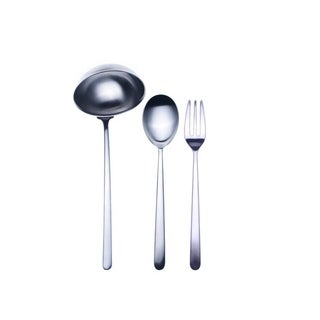 3-piece Stainless Steel Linea Ice Serving Set (Fork, Spoon, and Ladle)