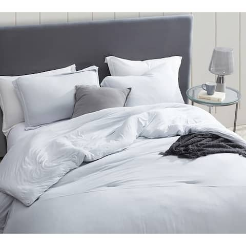 BYB Bare Bottom Duvet Cover - Glacier Gray
