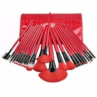 M.B.S Royal Red Make Up 24-piece Brush Set