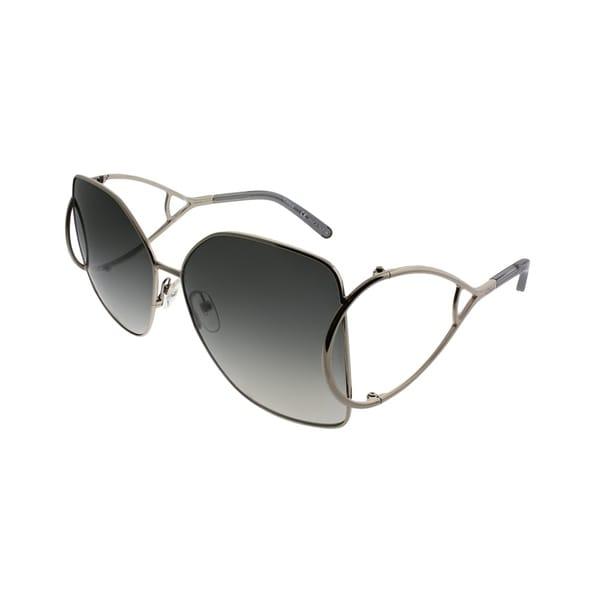 f16db2efacad Chloe Square CE 135S 744 Women Gold Frame Grey Gradient Lens Sunglasses