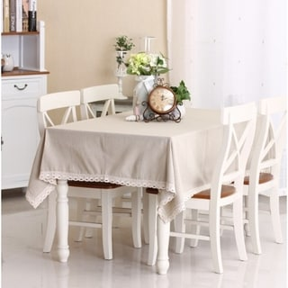 """54""""x 80"""" Natural Simple Rectangle Cotton and Linen Tablecloth - 54""""x 80"""""""