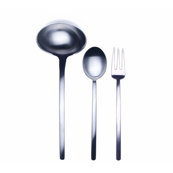 3-piece Stainless Steel Due Ice Serving Set (Fork, Spoon, and Ladle)