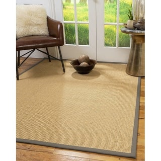 Natural Area Rugs Benedict Handmade Chunky Sisal Rug With Extra Wide Binding - 8' x 10'
