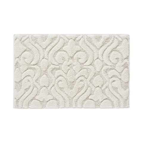 Five Queens Court Leo High Pile Damask Sculpted Bath Rug - 20 x 30