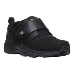 Men's Propet Stability X Hook and Loop Sneaker Black Mesh