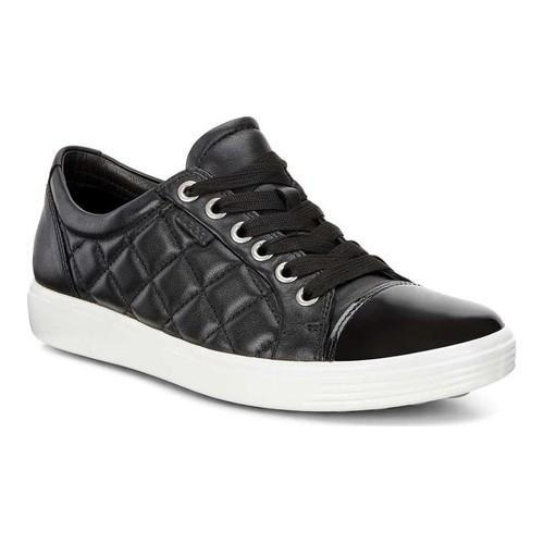 Women's Soft 7 Quilted Patent Leather Tie Sneakers Dacg72