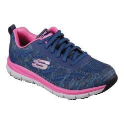 Women's Skechers Work Relaxed Fit Comfort Flex Pro HC SR Sneaker Navy/Pink