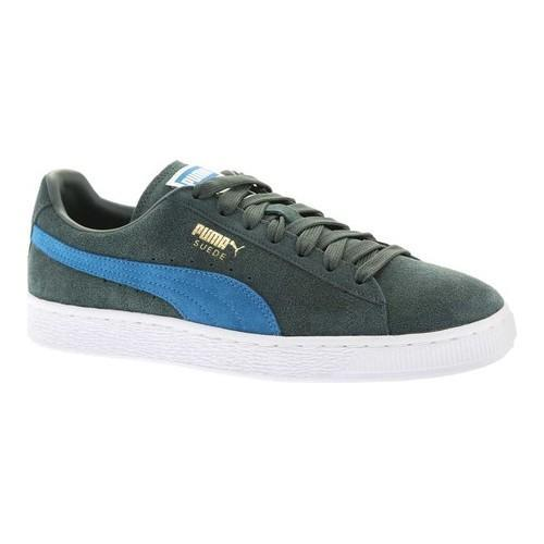 e379f91240af Shop Men s PUMA Suede Classic+ Green Gables Mykonos Blue - Free Shipping  Today - Overstock - 18660816