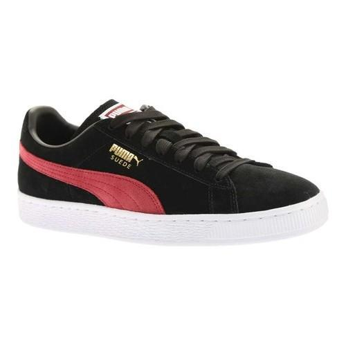 buy online 217fe 7d64f Shop Men s PUMA Suede Classic+ Puma Black Tibetan Red - Free Shipping Today  - Overstock - 18660817