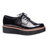 Women's Chinese Laundry Cecilia Oxford Black Soft Crinkle Patent