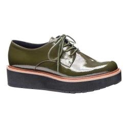 Women's Chinese Laundry Cecilia Oxford Military Olive Soft Crinkle Patent
