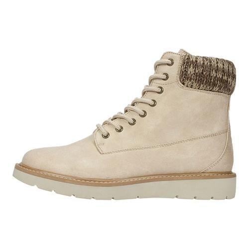Cliffs by White Mountain Malini Lace Up Boot(Women's) -Wheat Multi Distressed Textile/Sweater Fabric