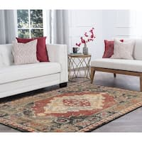 Alise Rugs Soho Transitional Red Area Rug - 7'10 x 10'3