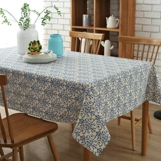 """54""""x 80"""" China Pattern High Quality Rectangle Cotton and Linen Tablecloth - 54""""x 80"""""""