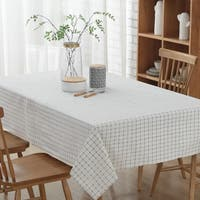 "54""x 80"" Fashion Simple White Rectangle Polyester Cotton Tablecloth - 54""x 80"""