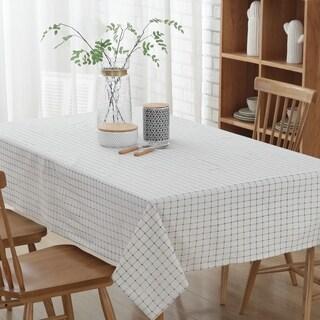 "54""x 80"" Fashion Simple White Rectangle Polyester Cotton Tablecloth - 54""x 80"""