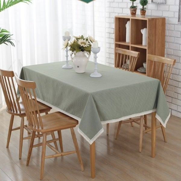 """54""""x 72"""" Light Green Rectangle Washable Polyester Cotton Tablecloth - 54""""x 72"""""""